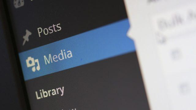 WordPress メディア