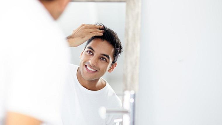男性、美容、肌荒れ、髪