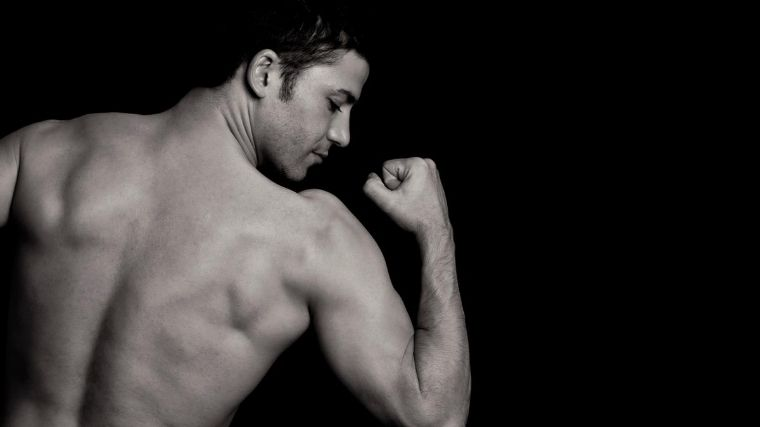 筋肉、ワイルド、イケメン、男