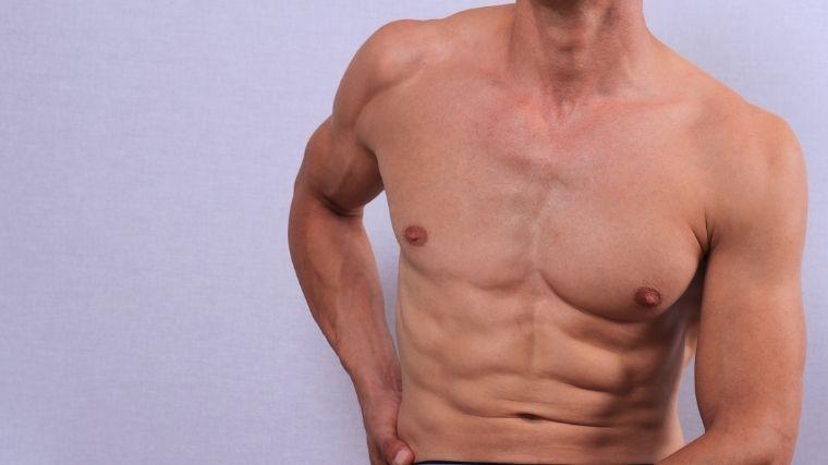 筋肉、身体、男、全身