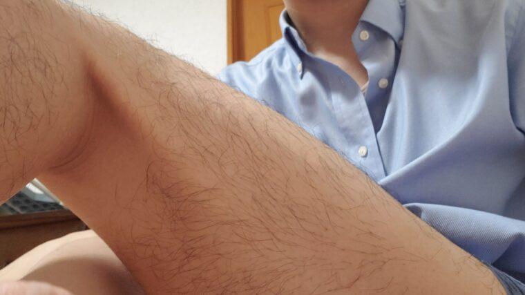 脱毛する前の太ももの毛